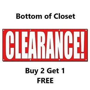 HUGE Clearance Section at Bottom